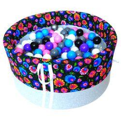 Suchy basen z piłeczkami dla dzieci BabyBall łowicki ciemny