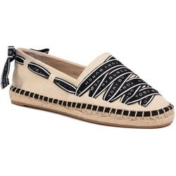 Espadryle TORY BURCH - Logo Grosgrain Espadrille 61318 Cream/Perfect Black 105
