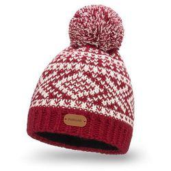 Zimowa czapka z polarem - Bordowy