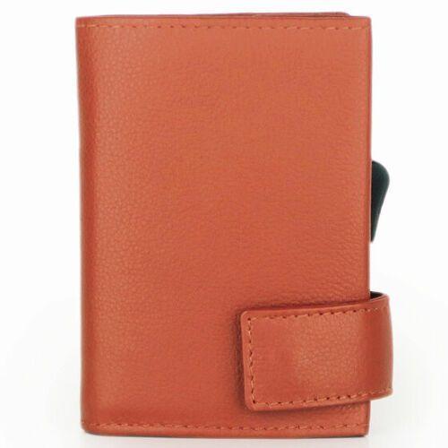 Etui i pokrowce, SecWal SecWal 1 Kreditkartenetui Geldbörse RFID Leder 9 cm orange