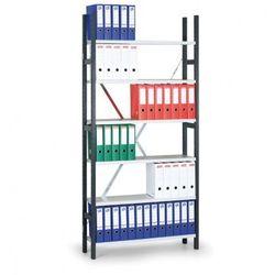 Regał archiwalny Variant, 2550x1000x300 mm, szare półki, podstawowy