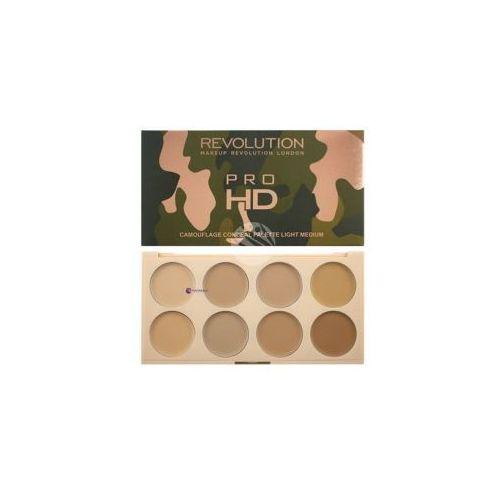 Korektory do twarzy, Makeup Revolution Ultra Pro HD Camouflage (W) paleta korektorów do twarzy Light/Medium 10g
