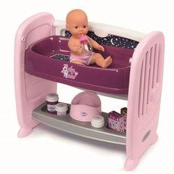 Smoby 220353 Baby Nurse 2w1 łóżeczko + lalka