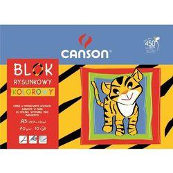 Blok rysunkowy CANSON A3 10k. 70g. - kolorowy