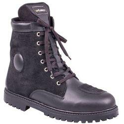 Skórzane buty motocyklowe W-TEC Highlander, Czarny, 47