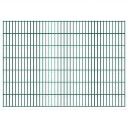 vidaXL Panele ogrodzeniowe 2D z słupkami 2008x1430 mm 44 m Zielone Darmowa wysyłka i zwroty