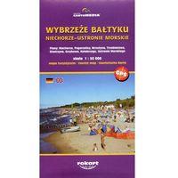 Mapy i atlasy turystyczne, Wybrzeże Bałtyku Niechorze-Ustronie Morskie mapa turystyczna 1:50 000 (opr. miękka)