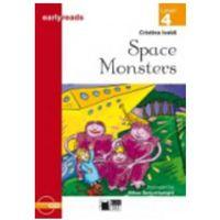 Książki do nauki języka, Space monsters level 4 + CD (opr. miękka)