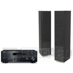 Yamaha MusicCast R-N602 (czarny), Pylon Audio Coral 25 (czarny)