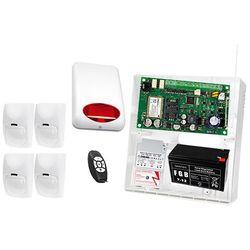 Zestaw alarmowy: Płyta główna MICRA, Pilot MPT-300, 4x Czujka BINGO, Sygnalizator zewnetrzny SPL-5010 R, Akcesoria