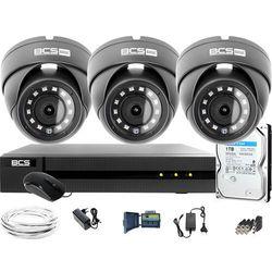 Monitoring Full HD BCS Basic Full HD 2MPx 1TB H265+ 3 x Kamera kopułkowa 2.8mm IR 30m