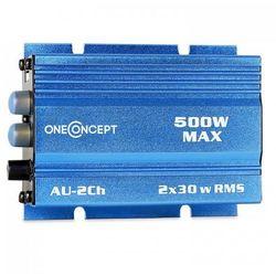 oneConcept 500 W wzmacniacz samochodowy HiFi - niebieski