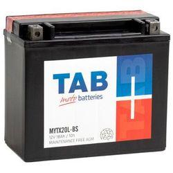 Akumulator motocyklowy TAB YTX20L-BS (MYTX20L-BS) 12V 18Ah 240A P+