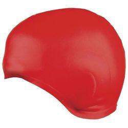 Czepek Spokey Earcap silikonowy z uchem 837424 czerwony