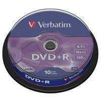 Płyty CD, DVD, Blu-ray, Płyta DVD+R Verbatim 4.7GB Cake 10szt.