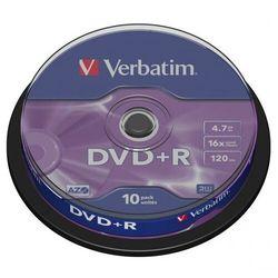 Płyta DVD+R Verbatim 4.7GB Cake 10szt.