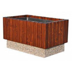 Donica betonowo-drewniana 76x46x43cm