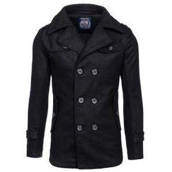Czarny płaszcz męski zimowy Denley EX906