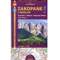 Mapy i atlasy turystyczne, Zakopane i okolice Krupówki Giewont i Kasprowy Plan miasta 1:12 500/1:7 500 (opr. broszurowa)
