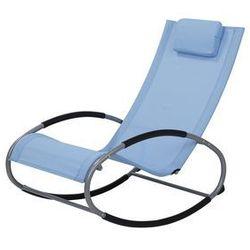 Fotel ogrodowy bujany niebieski CAMPO