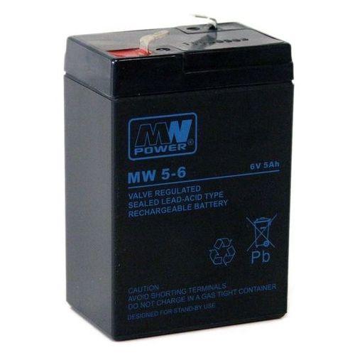 Akumulatorki, Akumulator żelowy 6,0V/5Ah MW Pb 70x47x101mm 6-9