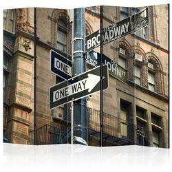 Parawan 5-częściowy - Wszystkie drogi prowadzą na Broadway II [Room Dividers]