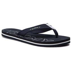 Japonki TOMMY HILFIGER - Iridescent Detail Beach Sandal FW0FW04236 Midnight 403