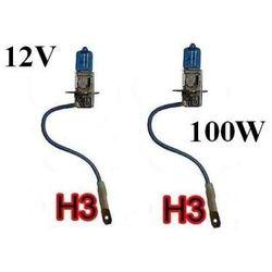 Żarówki (2szt.) Samochodowe H3 (12V) Xenon H.I.D. Super White (moc 100W) - Homologowane.