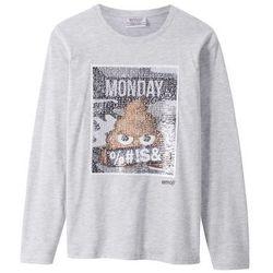 "Shirt ""Emojis"" z cekinami dwustronnymi bonprix jasnoszary melanż"