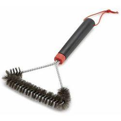 Szczotka do czyszczenia grilla, trójstronna 30 cm, włosie ze stali nierdzewnej