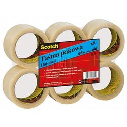 Taśma pakowa 3M Scotch 50mm x 66m przeźroczysta
