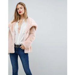 ASOS Faux Fur Collar Jacket - Pink
