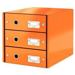 Pojemnik Leitz Click&Store z 3 szufladami pomarańczowy 60480044