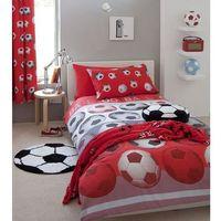 Zasłony, Dekoria Komplet zasłon Football Red 168x183cm, 168 × 183 cm