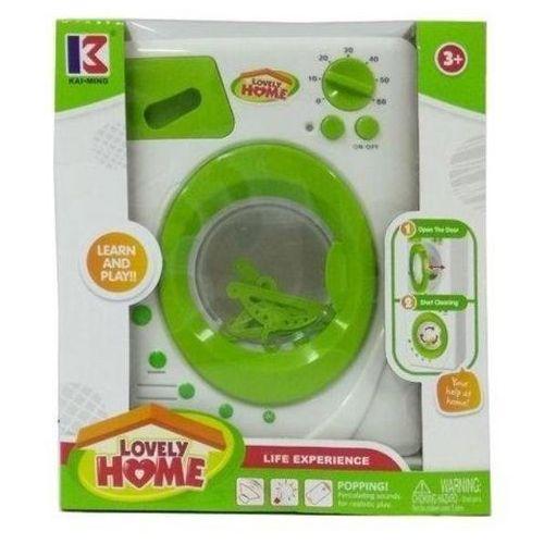Pralki dla dzieci, Pralka ze światłem i dźwiękiem biało-zielona