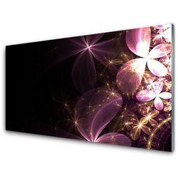 Panel Szklany Abstrakcja Kwiaty Sztuka