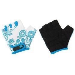 Rękawiczki dziecięce Accent Flowers Kids biało-niebieskie L/XL