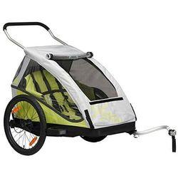 Przyczepka rowerowa dla dzieci XLC BS C05 DUO2 2w1+ wózek składana zielona