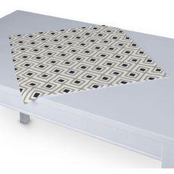 Dekoria Serweta 60x60 cm, czarno-szare romby na białym tle, 60 x 60 cm, Geometric