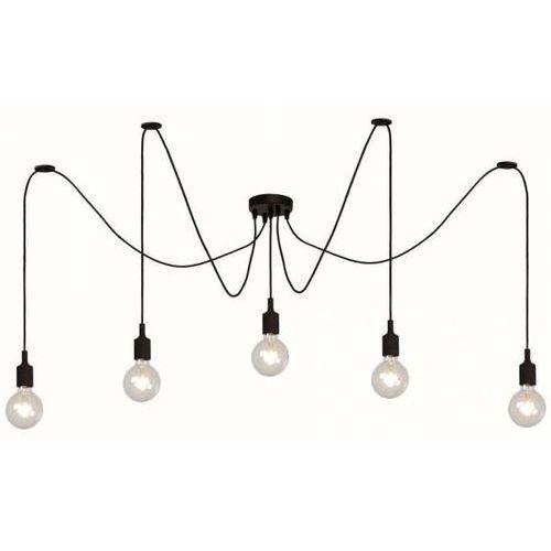 Lampy sufitowe, LAMPA wisząca FIX MULTIPLE 08408/05/30 Lucide industrialna OPRAWA dekoracyjna ZWIS pająk spider kable przewód czarny