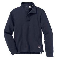 Bluza ze stójką i plisą guzikową Regular Fit bonprix ciemnoniebieski
