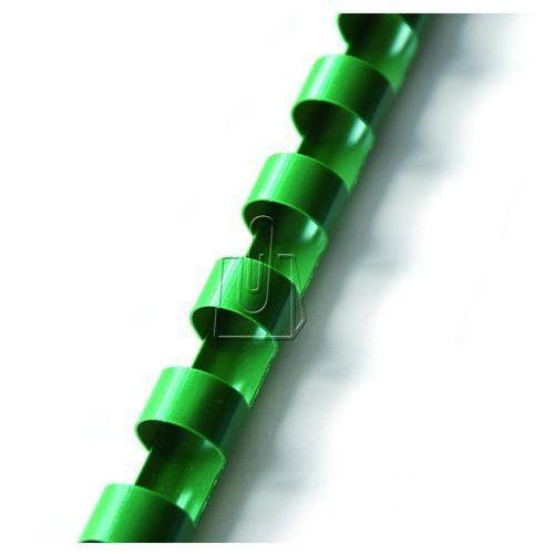 Grzbiety do bindownic, Grzbiety do bindowania plastikowe, zielone, 14 mm, 100 sztuk, oprawa do 125 kartek - Super Ceny - Rabaty - Autoryzowana dystrybucja - Szybka dostawa - Hurt