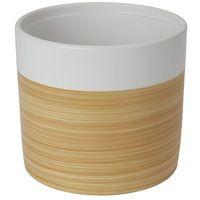 Doniczki i podstawki, Doniczka ceramiczna GoodHome ozdobna 19 cm efekt drewna