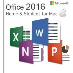 Microsoft Office Mac Home & Students 2016 EuroZone ESD PL