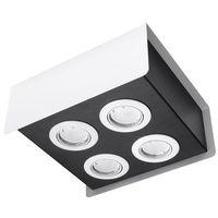 Lampy sufitowe, Spot plafon Sollux Stereo 4 SL.0408 oprawa sufitowa 4x40W GU10 biały/czarny