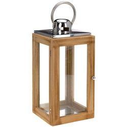 Drewniany lampion NATURAL - latarenka