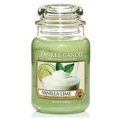 Yankee Candle Vanilla Lime aromatyczna świeca zapachowa słoik duży 623 g