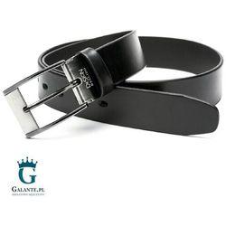 Czarny pasek skórzany do jeansów Miguel Bellido 4750-35-3335-09