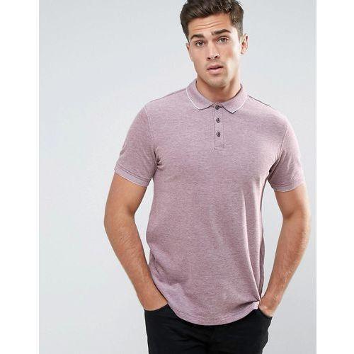 Męskie koszulki polo, Burton Menswear Polo With Embroidery - Pink