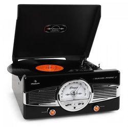 Auna MG-TT-82B gramofon radio FM lata 50-te retro czarny